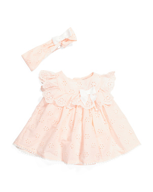 Newborn Girls Eyelet Bubble Romper