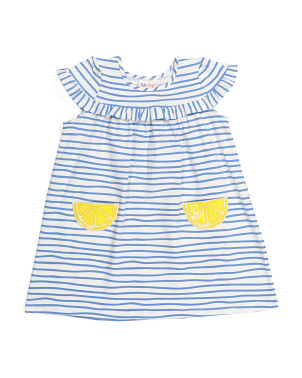 Toddler Girls Lemon Pocket Dress