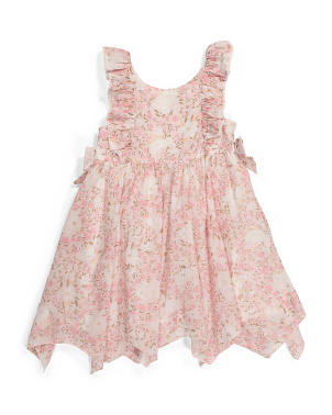 Toddler Girls Hanky Hem Floral Dress