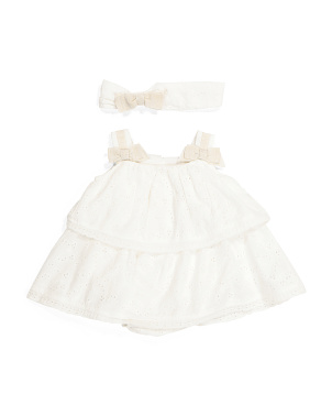Baby Girl Grosgrain Popover Dress