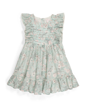 Toddler Girls Ruffle Flower Dress