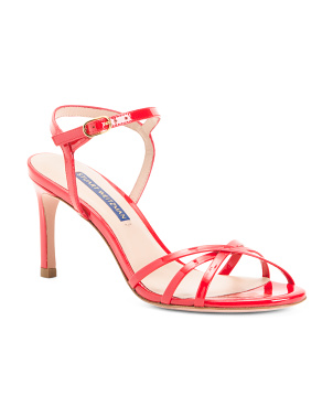 Made In Spain Barely There Patent Leather Sandals
