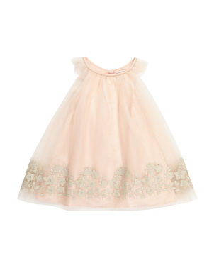 Baby Girls Flutter Sleeve Dress