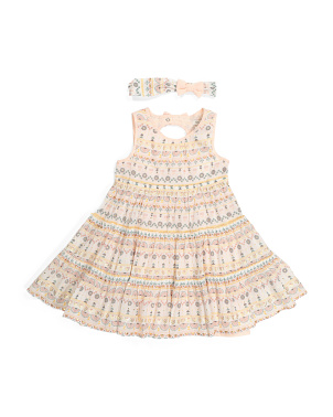 Toddler Girls Boho Tiered Dress