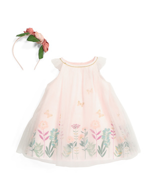 Infant Girl Floral Tulle Dress