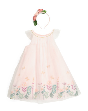 Toddler Girl Floral Tulle Dress
