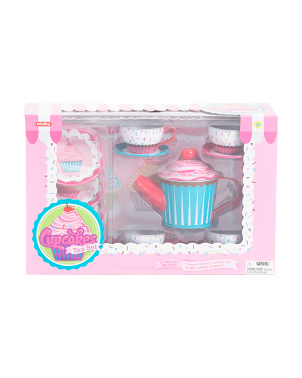 15pc Cupcake Tin Tea Set