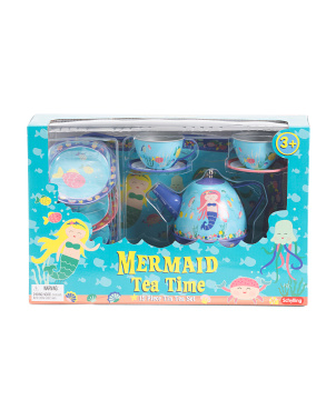 15pc Mermaid Tin Tea Set