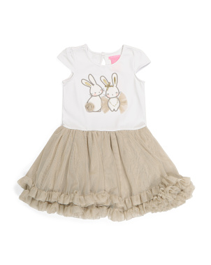 Toddler Girls Bunny Tutu Dress