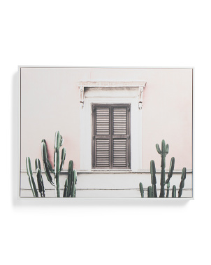 24x18 Blush Vila Canvas Wall Art