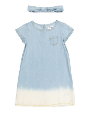 Toddler Girls Dip Dye Dress