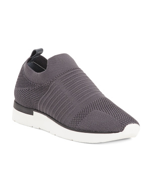 Knit Slip On Fashion Sneakers
