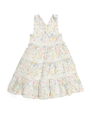 Toddler Girls Eyelet Tiered Dress