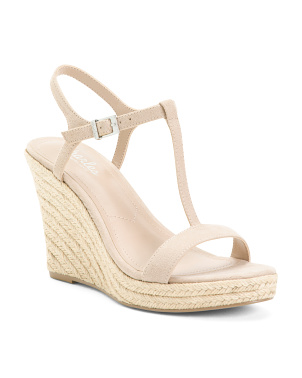 Ankle Strap Espadrille Bottom Sandals