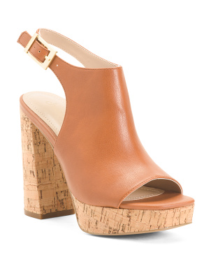Platform Cork Bottom Ankle Strap Sandals