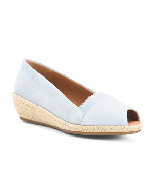 Comfort Suede Espadrille Demi Wedge Sandals