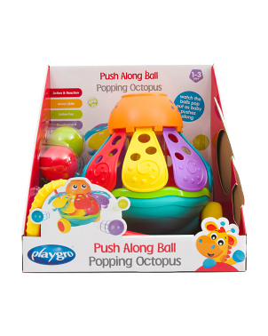 Push Along Ball Popping Octopus