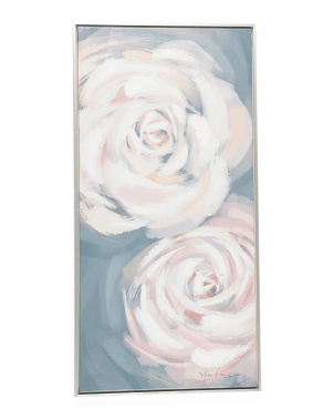 20x40 Two Roses Wall Art