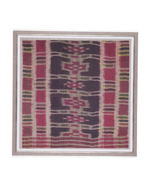 36x36 Framed Peruvian Print On Textile Wall Art