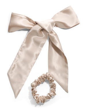 Pure Silk Ribbon And Scrunchie Set