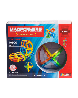 40pc Curve Magnetic Construction Set