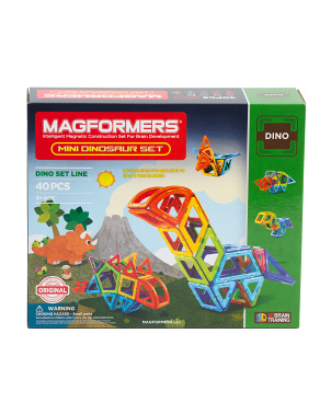 40pc Mini Dinosaur Magnetic Construction Set