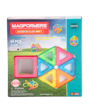 14pc Neon Magnetic Construction Set