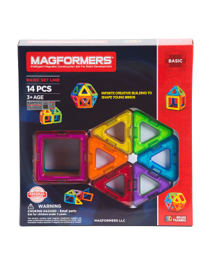 14pc Rainbow Magnetic Construction Set