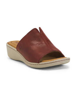 Comfort Leather Slingback Sandals