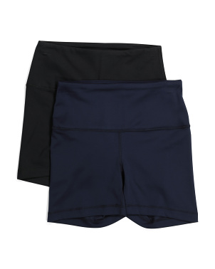 2pk Lux High Rise Bike Shorts