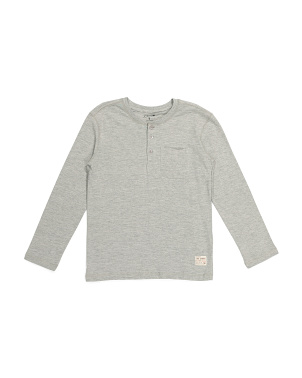 Big Boys Long Sleeve Pocket Henley