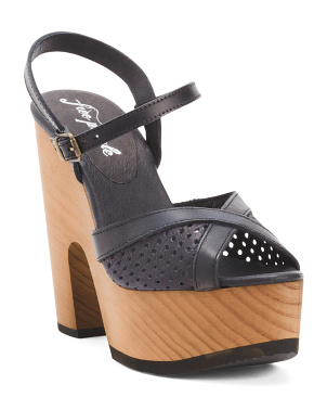 Made In Spain Leather Rendezvous Platforms