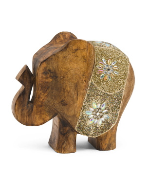 Tilda Beaded Wood Elephant