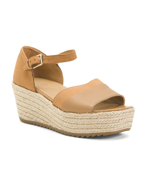 Comfort Leather Espadrille Sandals
