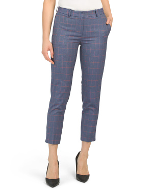 Petite Plaid Crop Pants