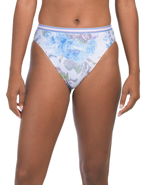 Vintage Floral High Waist Swim Bottom
