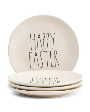 4pk Happy Easter Dinner Plates