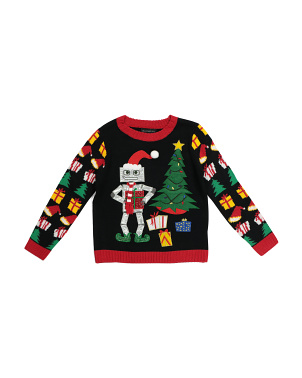 Big Boys Robot Ugly Christmas Sweater