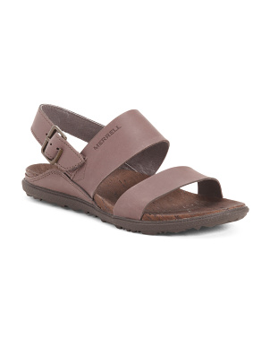 Comfort Back Strap Leather Sandals