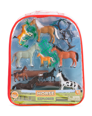 15pc Horse Explorer Backpack Play Set