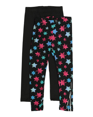 Little Girls 2pk Star Legging Set