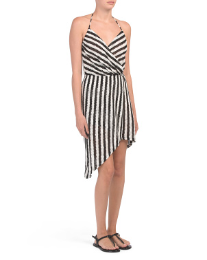 Ships Ahoy Wrap Cover-up Dress