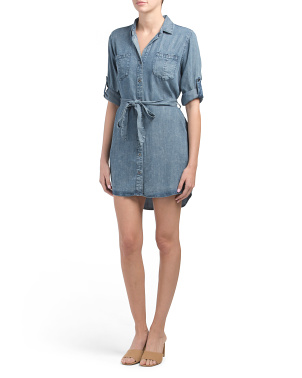 Anita Tie Waist Shirt Dress