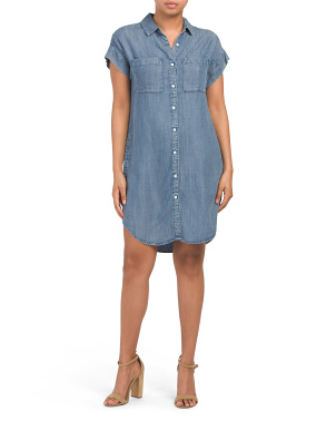 Marcie Button Down Shirt Dress