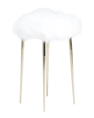 Cruella Faux Fur Stool