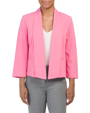 Open Front Unlined Crepe Jacket