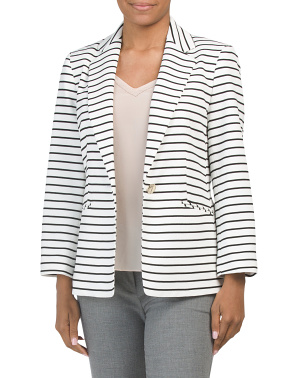 Rope Stripe Knit Blazer