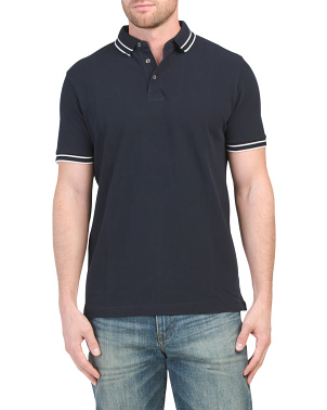 Classic Pique Tipped Polo
