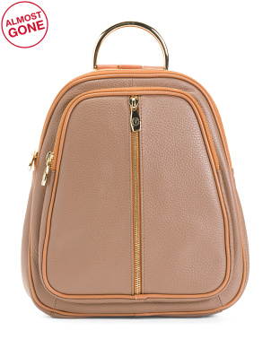 Made In Italy Leather Convertible Backpack