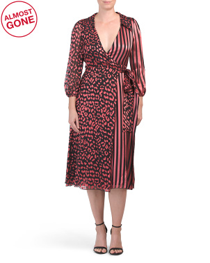 Silk Blend Abigail Wrap Dress